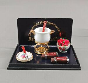 9911072 Reutter Puppenstuben-Miniatur Porzellan Schokoladenfondue