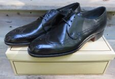 Hanover Master Flex Wing Tips Oxford Dress Shoes Black Size 10 NOS Leather