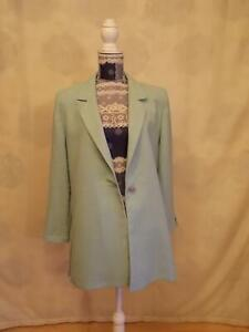 Jacques Vert  Blazer fastened with one button Size 14     Long Sleeve  Aquamarin