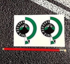 Nurburgring Vintage Aufkleber Track Day F1 Motorrad Fia 9.5 CM X 7.5 Rennen