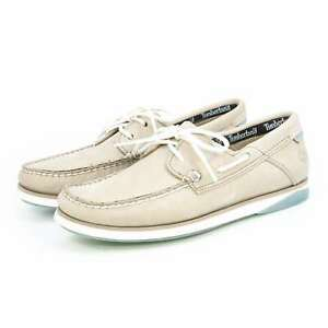 NEW Timberland Mens Casual Loafers Atlantic Break Boat Leather Slip On Shoes