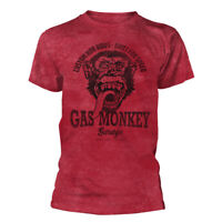 Official Gas Monkey Garage T Shirt Custom Hot Rods Red Fast N Loud Mens Tee New