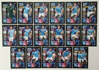 2019/20 Match Attax UEFA Soccer Cards - Manchester City Team Set (17 cards)