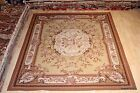 8x10' handmade hand woven chain stitch rug French Victorian design #PM75