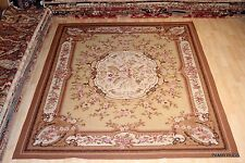 8x10' handmade hand woven chain stitch rug French Victorian design #PM75