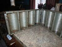 "ANTIQUE VINTAGE 4 LOAF TIN BREAD PAN MOLD 17"" x 15"""