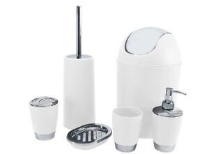 6pcs Bathroom Accessory Set Tumbler Toilet Brush Lotion Soap Bin Gift