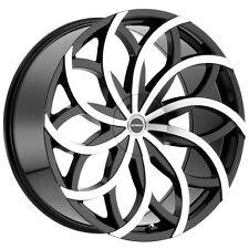 "Strada Huracan 22x9.5 6x135/6x5.5"" +30mm Black/Machined Wheel Rim"