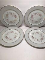 4 ROSE CHINA ''WINTHROP'' JAPAN DINNER PLATES   10 1/4''