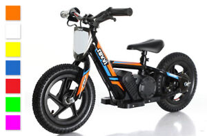 """NEW COLOURS 2021! REVVI 12"""" Electric Balance Bike, for Kids 2-6 Year Olds"""