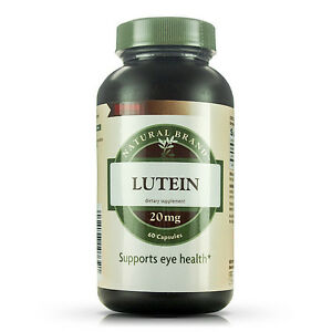 GNC Natural Brand Lutein 20 Mg Capsules, 60 Count (EX: 02/2021)