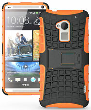 ORANGE GRENADE RUGGED TPU SKIN HARD CASE COVER STAND FOR HTC ONE MAX T6 803s