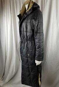 Vintage Woman Polo SPORT Ralph Lauren Large trench Black puffer winter coat rare