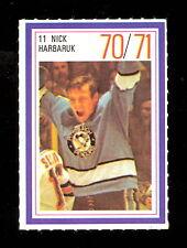 1970-71 ESSO POWER PLAYERS NHL #11 NICK HARBARUK EX-NM PENGUINS UNUSED STAMP