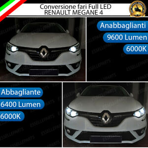 CONVERSIONE FARI FULL LED RENAULT MEGANE 4 IV 6000K BIANCO GHIACCIO LED CANBUS