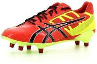 Asics Mens Gel Lethal Speed 6 Stud Rugby Boots - Orange/Black/Yellow (UK 6.5/8)