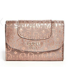 NWT GUESS Marian Wallet Purse Patent Logo Embossed Metallic Brown