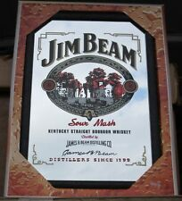 Mirror Jim Beam whiskey houses pub/bar, mancave, home decoration