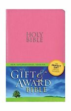 NIV Gift and Award Bible Leather-Look Pink Red Letter Edition Free Shipping