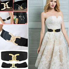 Lady Wide Fashion Belt Women Black Cinch Waist Belt Elastic Stretch UK Love Gift