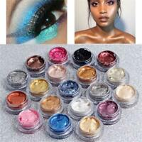 25color New Glitter Single Eyeshadow Cream Waterproof Pigment Shimmer Eye Shadow