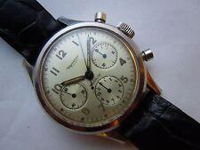 Vintage MINERVA Chronograph Valjoux 72 Mens Watch Triple Register