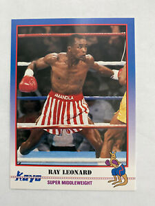 13 1991 Kayo Boxing Cards SUGAR RAY LEONARD (2), JOE FRAZIER GEORGE FOREMAN +++