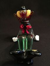 VINTAGE MURANO ACROBAT CLOWN WITH LABEL, SIGNED AND NUMBERED