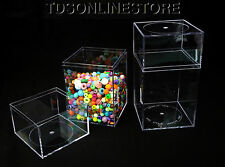 Clear Acrylic Storage/Display Cannisters 4x4x7.25 Inch Package Of 2