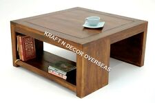 Comtempory Coffee Table of Shesham Wood Size 75 X 45 X 75 Cms in Brown Colour
