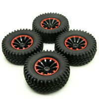 4PCS 100mm OD Tires Tyres with 1.9'' Wheel Rims For 1/10 RC SCX10 AX10 D90 TRX4