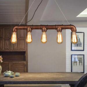 Vintage Industrial Rustic Steampunk Metal Waterpipe Ceiling Wall Table Lights