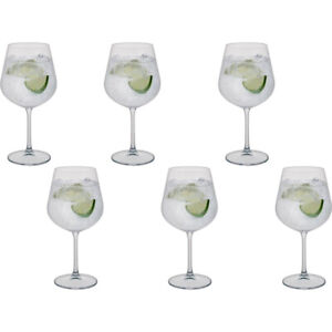 Dartington Gin Glasses Copa 600ml 6 Pack Crystal Select Collection Height 21.5cm