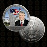 The 39th President of U.S. | Jimmy Carter 1977-1981 | Silver Plated Coin