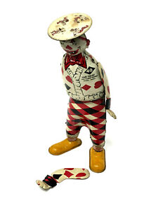 "Vintage Ferdinand Strauss ""Tom Twist the Funny Clown"" Walker, Tin Litho"