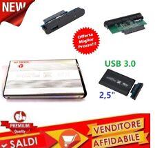 "CASE BOX SLIM ESTERNO PER HARDISK HARD DISK HD 2.5"" SATA USB 3.0 HDD 2,5"""