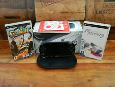 Sony PSP Black Console Boxed Complete with 2 Games PSP 1003-k