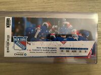 2011-12 New York Rangers NHL Official Mint Ticket Stubs - pick any game!