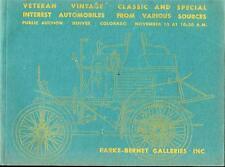 PARKE-BERNET GALLERIES Vintage Classic Automobiles Auction Catalog 1967 Denver