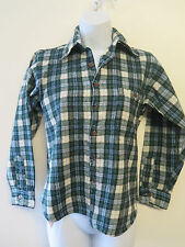 Genuine Pendleton Wool Check Flannel Shirt - S UK 8 Euro 36 Blue/Green