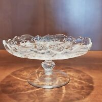 Heisey Orchid Etch Vintage Pedestal Cheese Candy Compote 6.25 Inch