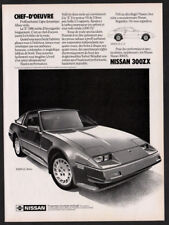 1986 NISSAN 300ZX GL Turbo Vintage Original Print AD 2-door coupe car art Canada