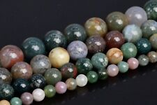Natural Indian Agate Beads Grade AAA Round Loose Beads 3/4-5/6-7/8/10/12/15MM