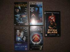 Vintage Sci Fi VHS Films Bundle x 5 Total Recall,Sphere,Stargate,Pitch Black,Sta