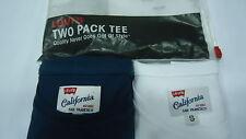 LEVI'S t-shirt Uomo Mezza Manica Cotone 2 pezzi Col Bianco Blu