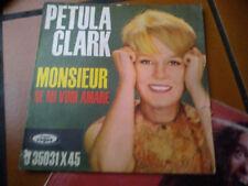 """7"""" PETULA CLARK MONSIEUR  SE MI VUOI AMARE VG+"""