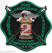 """Ft. Lauderdale Tower-Ladder-2  """"Downtown"""", FL  (4"""" x 4"""" size) fire patch"""