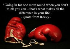 ROCKY BOXING INSPIRATIONAL / MOTIVATIONAL QUOTE POSTER / PRINT / PICTURE(3)