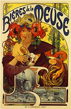 French France Bieres De la Meuse Beer Advertisement Art Poster Print