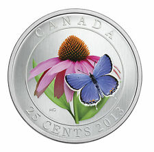 2013 Canadian $0.25 Coloured Coneflower